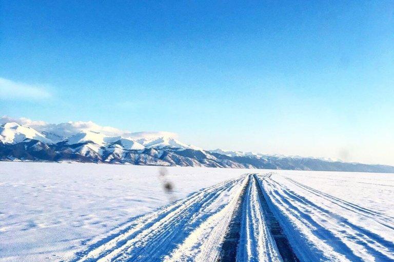 На Ольхон по зимнему Байкалу