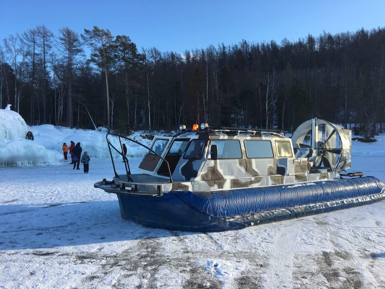 Отдых на Байкале зимой - СВП Хивус