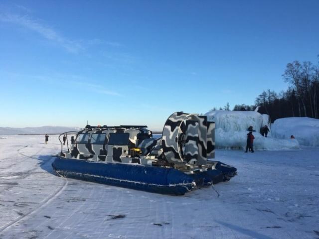 Туры на Байкал - Судно на воздушной подушке Хивус