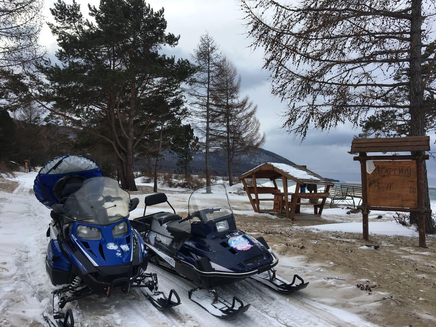 Катание на Снегоходах в Бурятии